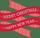Happy & Merry Ribbon