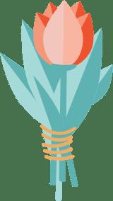 Single Tulip Bouqet