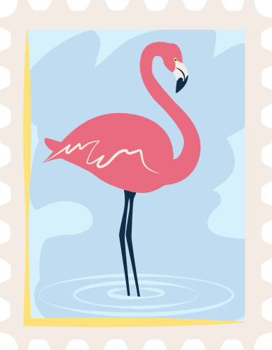 Flamingo Stamp
