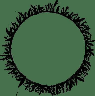 Painted Vine Wreath