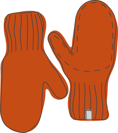 Plain Knitted Mittens