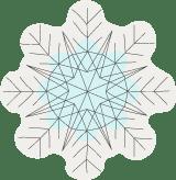 Crisscrossed Snowflake