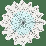 Crumpled Snowflake