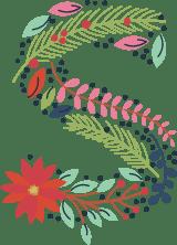 """Floral Letter """"S"""""""