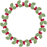 Large Holly Wreath
