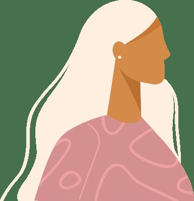 Long Gray Profile Woman