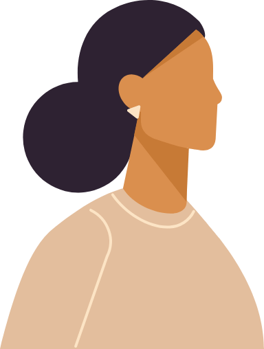 Big Bun Profile Woman