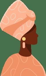 African Turban Profile Woman