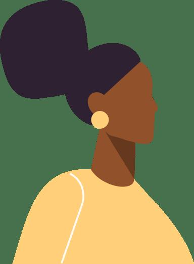 Black Bun Profile Woman