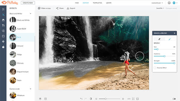 How to use PicMonkey: Manipulate light effects, color, exposure, and more on the Edit tab.