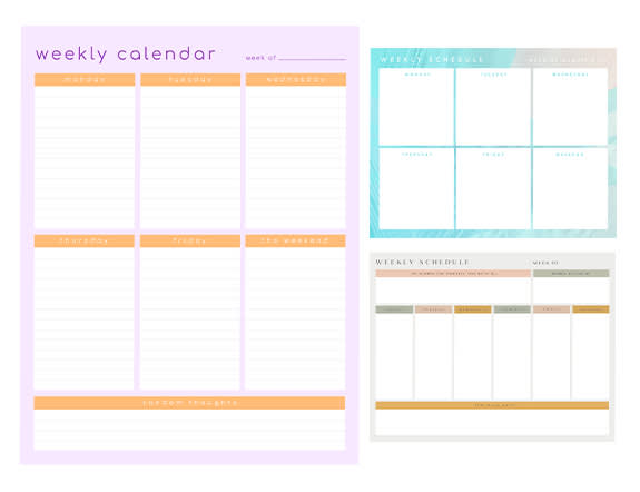 Make weekly schedules with PicMonkey's weekly schedule maker tools