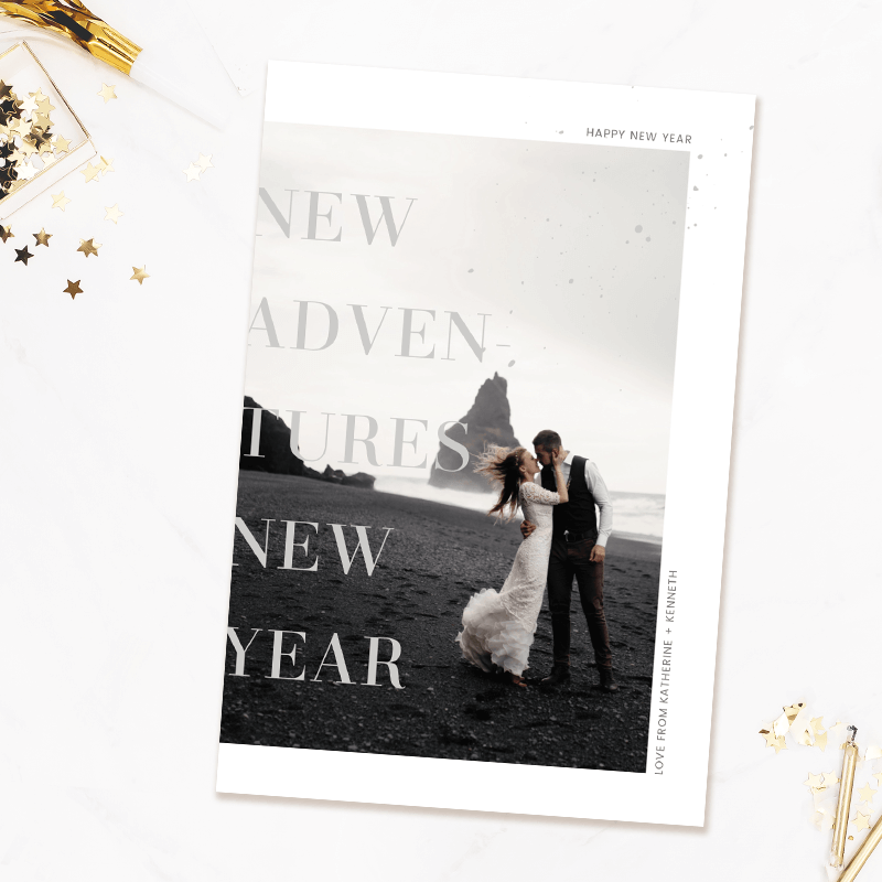New Year's card templates