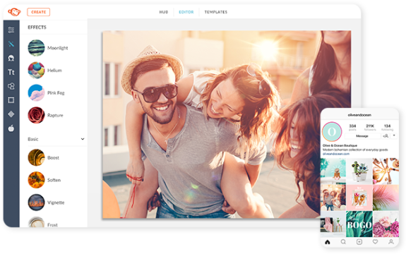 use photo filters in both picmonkey desktop and picmonkey mobile app