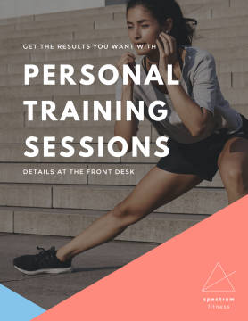 Personal Training Sessions poster template.