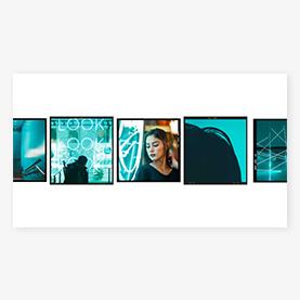 PicMonkey multi-frame YouTube channel art design template