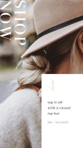 Shop Now Hat instagram ad template
