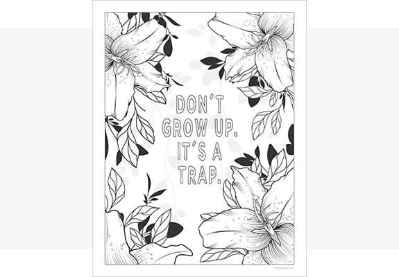 Make printable coloring pages with PicMonkey