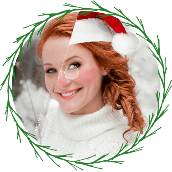 make your photos look like santa and mrs claus with the Santa Land Photo Editing tools