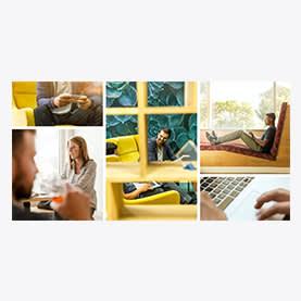 Collage d'entreprise - Modèle de couverture d'entreprise LinkedIn pour collage de photos