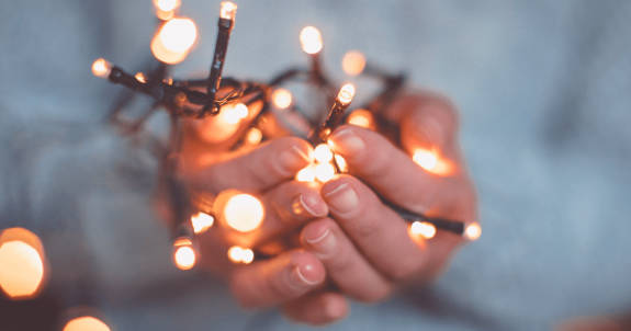DIY Christmas Cards Christmas light photography