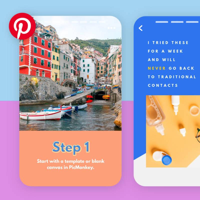Pinterest Idea Pin examples.