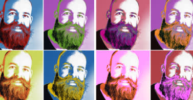Channel Warhol with the pop art effect