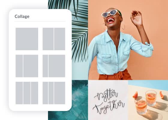 Créer des collages en ligne avec des photos et des vidéos à l'aide des outils de création de collages en ligne de PicMonkey