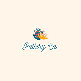 PicMonkey logo design template for pottery or ceramics business