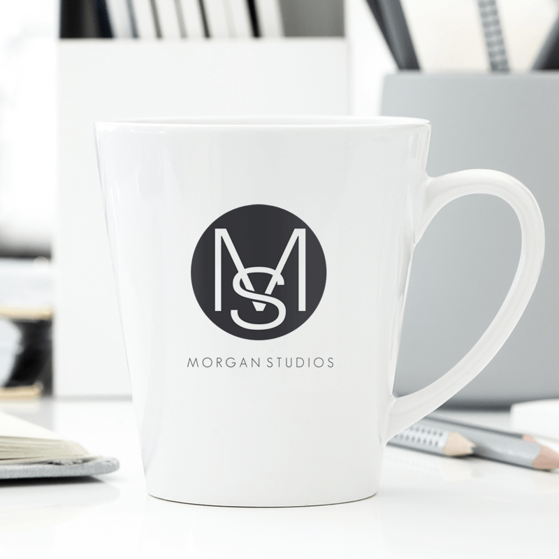 Use PicMonkey's monogram maker to create designs you can add to mugs like this one, stationery, and so much more.