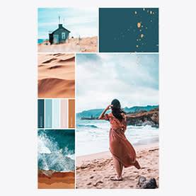 Collage de plage d'été - Modèle de collage de photos