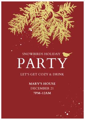 Snowbirds Holiday Party christmas card template