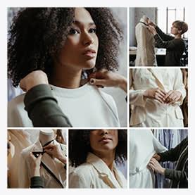 Modèle de collage de photos de mercier Collage