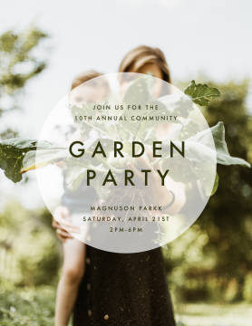 Community Garden Party poster template.