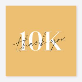 yellow 10k instagram post