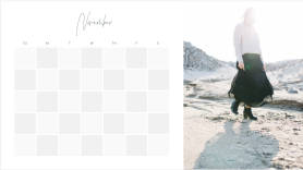 Monthly fashion photo calendar creator template at PicMonkey