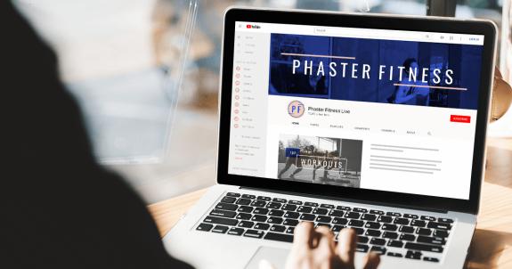 phaster fitness YouTube banner
