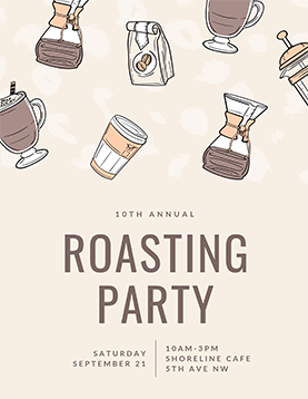 10th-annual-roasting-party-flyer-template