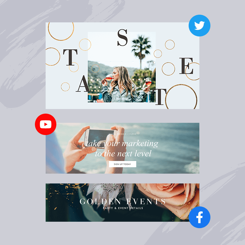 Make banners for facebook, banner for etsy, banners for twitter