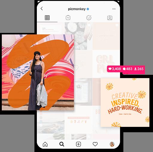 instagram phone mockup