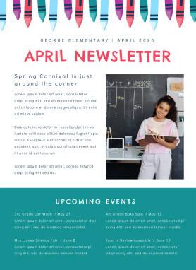 Newsletter template for teachers at PicMonkey