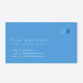 blue real estate card
