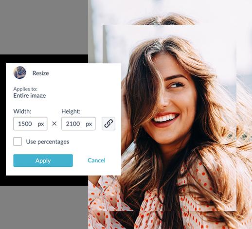 PicMonkey's Resize tool for standard photo print resize