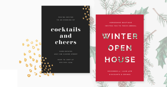 DIY holiday party invitations for business or pleasure