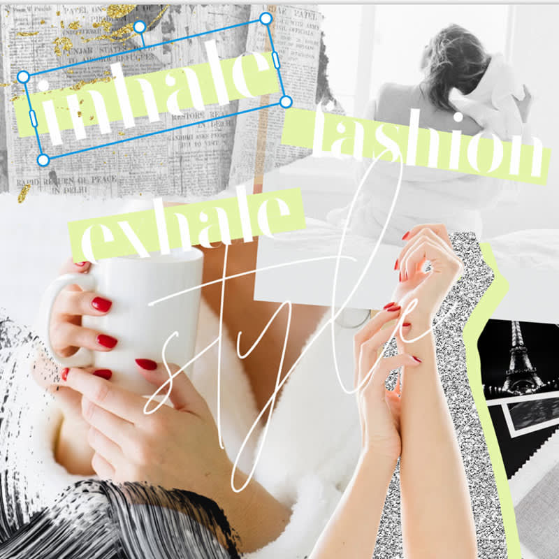 make 5 popular styles of fashion collage