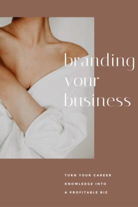 Branding Your Business pinterest template