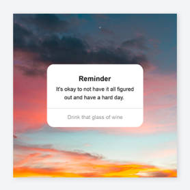 reminder sunset instagram post