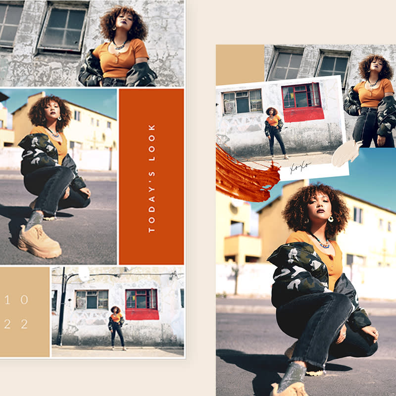 PicMonkey Instagram Story template for fashion brand.