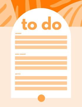 Bright orange checklist template at PicMonkey