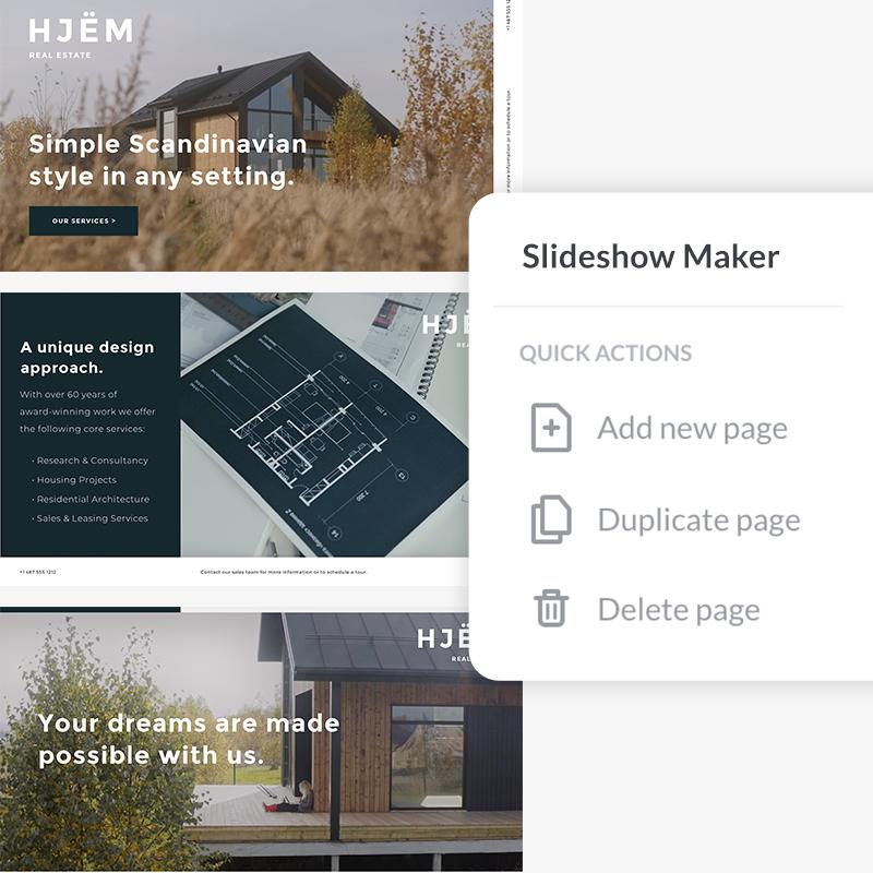 Use slideshow maker tools to create video and photo slideshows