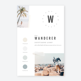 PicMonkey vision board template for travel
